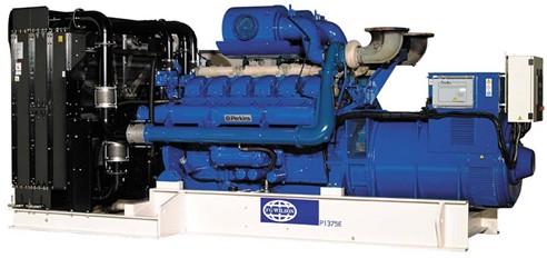 英国珀金斯4012系列(1375kVA-1650kVA)发电机组特性